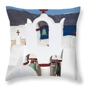 Santorini White Throw Pillow