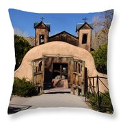 Santuario De Chimayo Adobe Chapel Throw Pillow