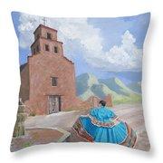 Santurario De Guadalupe Throw Pillow