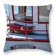 Saoirse Boat Donegal Throw Pillow
