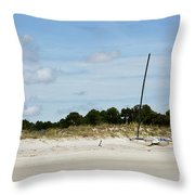 Sapelo Island Boats Throw Pillow