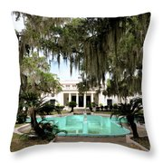 Sapelo Mansion  Throw Pillow
