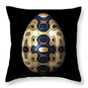 Sapphire And Gold Imperial Easter Egg Throw Pillow