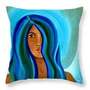 Sapphire Angel Throw Pillow