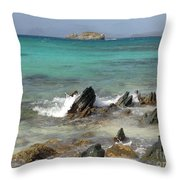 Sapphire Beach Throw Pillow