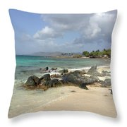 Sapphire Beach St. Thomas Throw Pillow