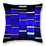 Sapphire Blue Throw Pillow