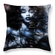 Sapphire Longing In The Blue Dust #1 Throw Pillow