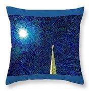 Sapphire Moon Glow Throw Pillow