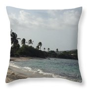 Sapphire Palms Throw Pillow