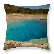 Sapphire Pool Throw Pillow