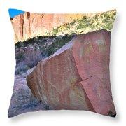 Sapphire Rock Throw Pillow