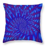 Sapphire Swirl Throw Pillow