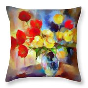 Sara's Colorful Bouquet  Throw Pillow