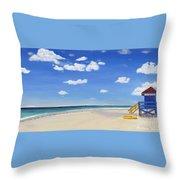 Sarasota Beach Throw Pillow