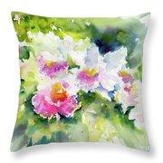 Sarasota Orchids Throw Pillow