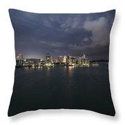 Cityscape - Sarasota Skyline Lightening Throw Pillow