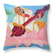 Saraswati Throw Pillow