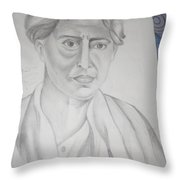 Sarat Chandra Chattopadhyay Throw Pillow