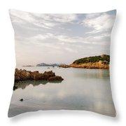 Sardinian Coast I Throw Pillow