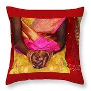 Sari Ceremony Throw Pillow