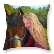 Sasha And Chelsea Throw Pillow