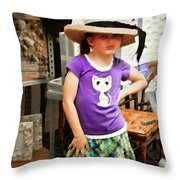 Sass In The Gift Shop Throw Pillow