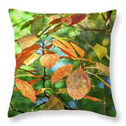Sassafras Leafs Texture 7k_dsc0933_16-10-30 Throw Pillow