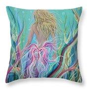 Sassy Mermaid  Throw Pillow