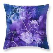 Sassy White Flowers Throw Pillow