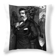 Satan Tempting John Wilkes Booth Throw Pillow