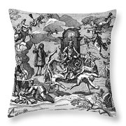 Satan With Cavorting Dancers, 18th Throw Pillow