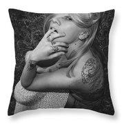 Satanic- Godess Throw Pillow