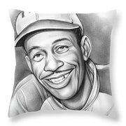 Satchel Paige II Throw Pillow