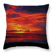 Satellite Beach Sunrise Throw Pillow