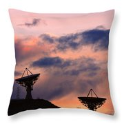 Satellite Sunset Throw Pillow