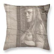 Satie Seeking Antique Style Throw Pillow