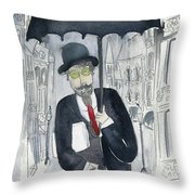Satie Walking In The Rain Throw Pillow