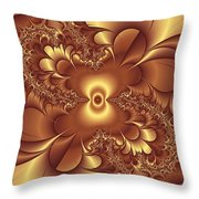 Satin And Lace Throw Pillow