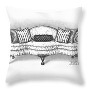 Satin Chippendale English Sofa Throw Pillow