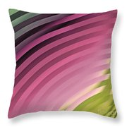 Satin Movements Pink II Throw Pillow