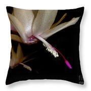 Satin Petals Throw Pillow