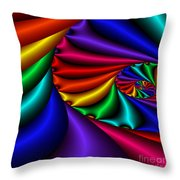 Satin Rainbow Throw Pillow