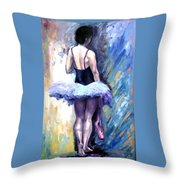 Satin Shoes Throw Pillow