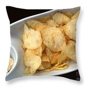 Satisfy The Craving With Chips And Dip Throw Pillow