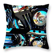 Saturated Chrome Throw Pillow