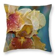 Saturated Iris Throw Pillow