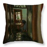Saturday  An Interior View Of Garstin's Home  Throw Pillow