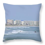 Saturday At The Beach Throw Pillow