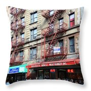 Saturday In Chinatown Throw Pillow
